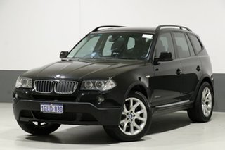 2009 BMW X3 E83 MY09 xDrive 20d Lifestyle Black 6 Speed Auto Steptronic Wagon.