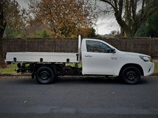 2015 Toyota Hilux GUN123R SR 4x2 White 5 Speed Manual Cab Chassis.