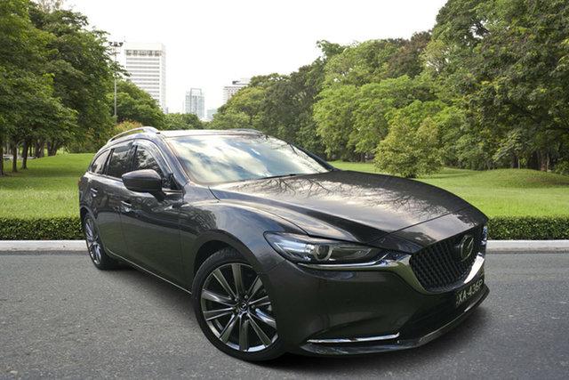 Demo Mazda 6 GL1033 Atenza SKYACTIV-Drive, 2019 Mazda 6 GL1033 Atenza SKYACTIV-Drive Machine Grey 6 Speed Sports Automatic Wagon