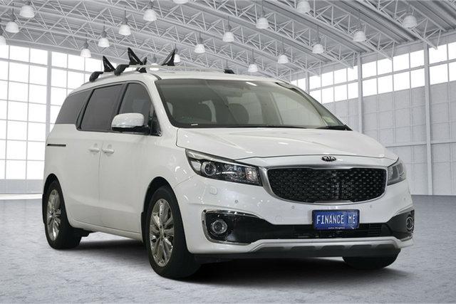Used Kia Carnival YP MY18 Platinum, 2018 Kia Carnival YP MY18 Platinum Snow White Pearl 6 Speed Sports Automatic Wagon
