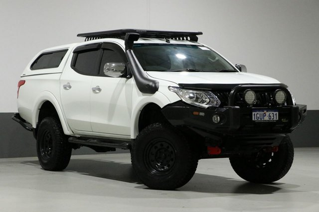 Used Mitsubishi Triton MQ MY16 Upgrade GLS (4x4), 2016 Mitsubishi Triton MQ MY16 Upgrade GLS (4x4) White 5 Speed Automatic Dual Cab Utility