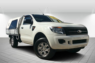 2013 Ford Ranger PX XL 4x2 Hi-Rider White 6 Speed Sports Automatic Cab Chassis.