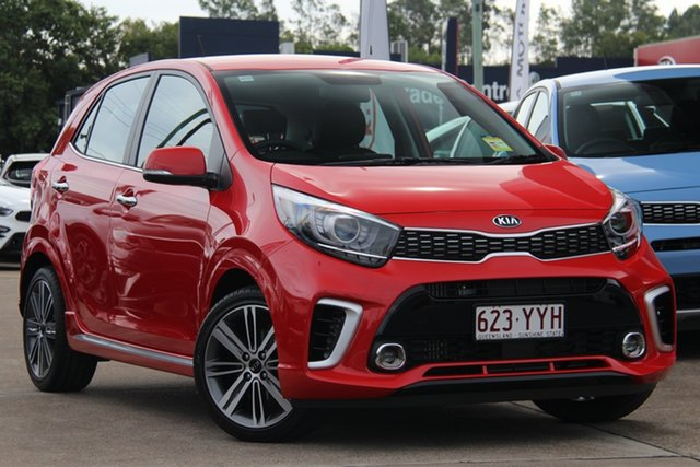 Demo Kia Picanto JA MY19 GT, 2019 Kia Picanto JA MY19 GT Signal Red 5 Speed Manual Hatchback