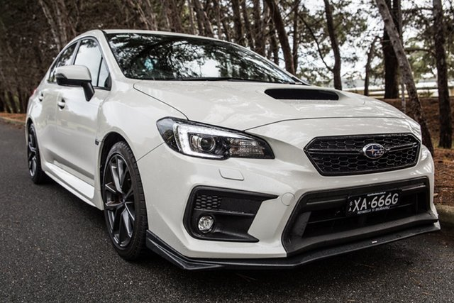 Demo Subaru WRX V1 MY19 Premium Lineartronic AWD, 2018 Subaru WRX V1 MY19 Premium Lineartronic AWD Crystal White Pearl 8 Speed Constant Variable Sedan