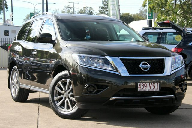 Used Nissan Pathfinder R52 MY15 ST X-tronic 2WD, 2015 Nissan Pathfinder R52 MY15 ST X-tronic 2WD Midnight Jade 1 Speed Constant Variable Wagon