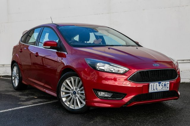Used Ford Focus LZ Sport, 2017 Ford Focus LZ Sport Red 6 Speed Automatic Hatchback