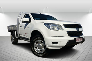 2013 Holden Colorado RG MY13 LX White 5 Speed Manual Cab Chassis.