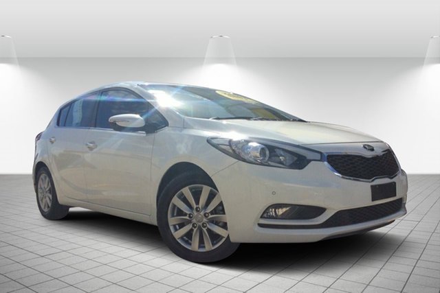 Used Kia Cerato YD MY14 SI, 2014 Kia Cerato YD MY14 SI White 6 Speed Sports Automatic Hatchback
