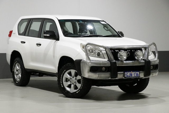 Used Toyota Landcruiser Prado KDJ150R GX (4x4), 2010 Toyota Landcruiser Prado KDJ150R GX (4x4) White 6 Speed Manual Wagon