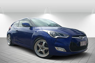 2012 Hyundai Veloster FS + Coupe Blue 6 Speed Manual Hatchback.