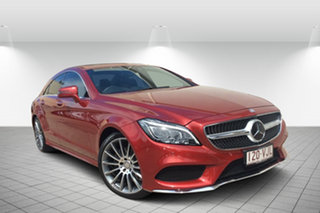 2015 Mercedes-Benz CLS250D C218 806MY d Coupe 7G-Tronic + Red 7 Speed Sports Automatic Sedan.