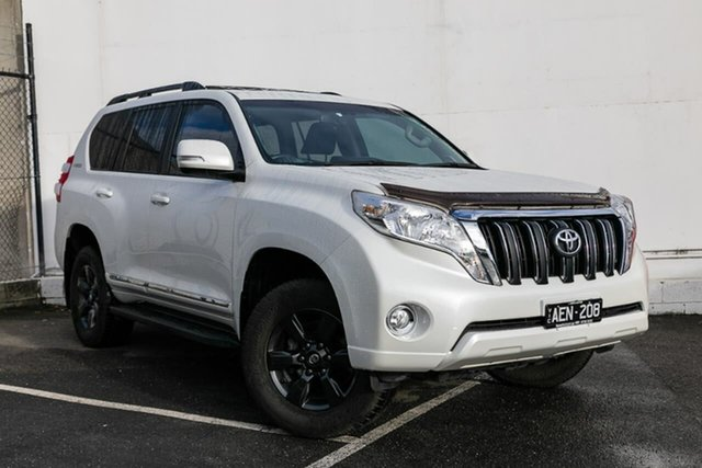 Used Toyota Landcruiser Prado KDJ150R MY14 Altitude, 2015 Toyota Landcruiser Prado KDJ150R MY14 Altitude White 5 Speed Sports Automatic Wagon