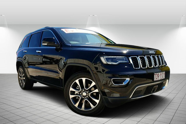 Used Jeep Grand Cherokee WK MY18 Limited, 2017 Jeep Grand Cherokee WK MY18 Limited Black Pearl 8 Speed Sports Automatic Wagon