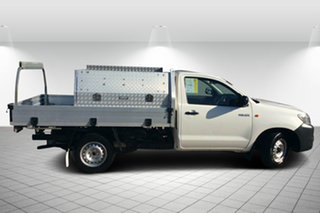 2013 Toyota Hilux TGN16R MY14 Workmate 4x2 White 5 Speed Manual Cab Chassis.