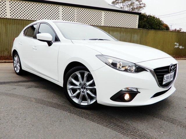 Used Mazda 3 BM5438 SP25 SKYACTIV-Drive, 2014 Mazda 3 BM5438 SP25 SKYACTIV-Drive White 6 Speed Sports Automatic Hatchback