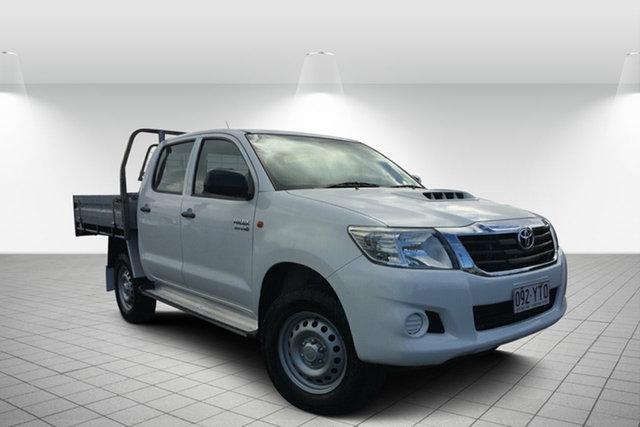 Used Toyota Hilux KUN26R MY14 SR Double Cab, 2014 Toyota Hilux KUN26R MY14 SR Double Cab White 5 Speed Automatic Utility