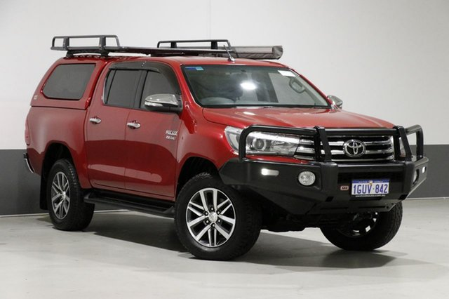 Used Toyota Hilux GUN126R SR5 (4x4), 2016 Toyota Hilux GUN126R SR5 (4x4) Red 6 Speed Automatic Dual Cab Utility