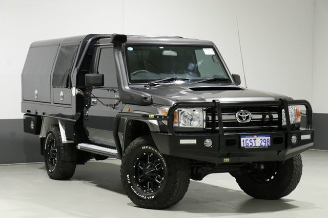 Used Toyota Landcruiser VDJ79R MY12 Update GXL (4x4), 2015 Toyota Landcruiser VDJ79R MY12 Update GXL (4x4) Graphite 5 Speed Manual Cab Chassis