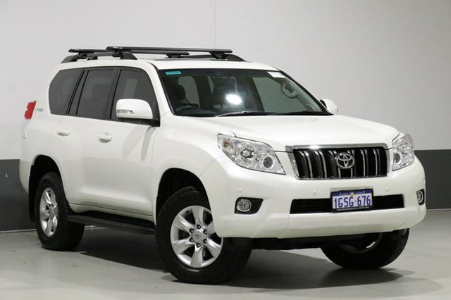 Used Toyota Landcruiser Prado KDJ150R 11 Upgrade Altitude (4x4), 2012 Toyota Landcruiser Prado KDJ150R 11 Upgrade Altitude (4x4) White 5 Speed Sequential Auto Wagon
