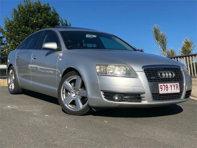 Used Audi A6 4F Tiptronic Quattro, 2007 Audi A6 4F Tiptronic Quattro Silver 6 Speed Sports Automatic Sedan