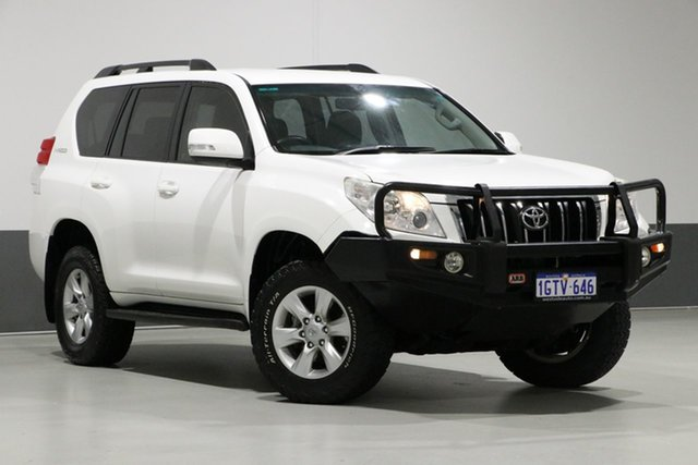 Used Toyota Landcruiser Prado KDJ150R 11 Upgrade GXL (4x4), 2012 Toyota Landcruiser Prado KDJ150R 11 Upgrade GXL (4x4) White 6 Speed Manual Wagon