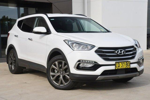 Used Hyundai Santa Fe DM5 MY18 Active X 2WD, 2017 Hyundai Santa Fe DM5 MY18 Active X 2WD White 6 Speed Sports Automatic Wagon