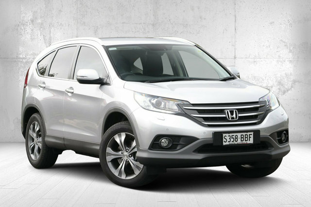 Used Honda CR-V RM MY14 DTi-L 4WD, 2013 Honda CR-V RM MY14 DTi-L 4WD Alabaster Silver 5 Speed Sports Automatic Wagon