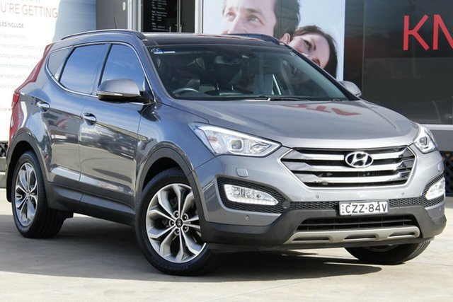 Used Hyundai Santa Fe DM Series II (DM3) Highlander CRDi (4x4), 2015 Hyundai Santa Fe DM Series II (DM3) Highlander CRDi (4x4) Grey 6 Speed Automatic Wagon
