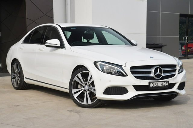Used Mercedes-Benz C200 W205 806+056MY 7G-Tronic +, 2016 Mercedes-Benz C200 W205 806+056MY 7G-Tronic + White 7 Speed Sports Automatic Sedan