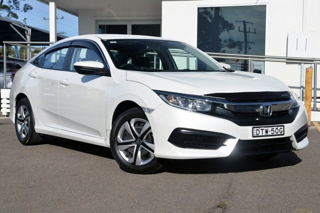 Used Honda Civic 10th Gen MY17 VTi, 2017 Honda Civic 10th Gen MY17 VTi White 1 Speed Constant Variable Sedan