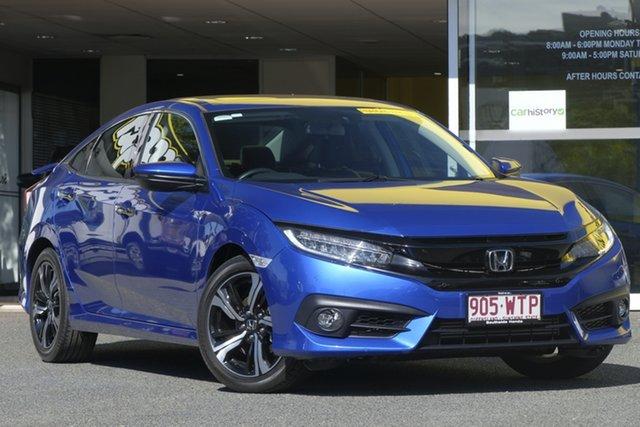 Used Honda Civic 10th Gen MY16 RS, 2016 Honda Civic 10th Gen MY16 RS Blue 1 Speed Constant Variable Sedan