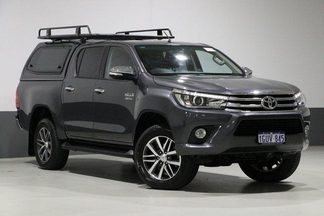 Used Toyota Hilux GUN126R SR5 (4x4), 2017 Toyota Hilux GUN126R SR5 (4x4) Graphite 6 Speed Automatic Dual Cab Utility