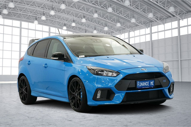Used Ford Focus LZ RS AWD Limited Edition, 2017 Ford Focus LZ RS AWD Limited Edition Blue 6 Speed Manual Hatchback
