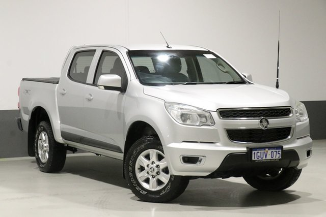 Used Holden Colorado RG MY15 LT (4x4), 2014 Holden Colorado RG MY15 LT (4x4) Silver 6 Speed Automatic Crew Cab Pickup