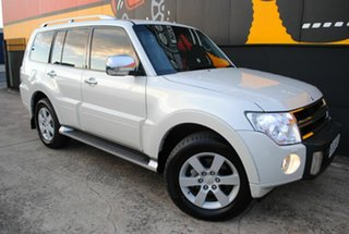 2010 Mitsubishi Pajero NT MY11 RX Pearl White 5 Speed Sports Automatic Wagon.