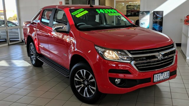 New Holden Colorado RG MY18 LTZ Pickup Crew Cab, 2018 Holden Colorado RG MY18 LTZ Pickup Crew Cab Absolute Red 6 Speed Sports Automatic Utility