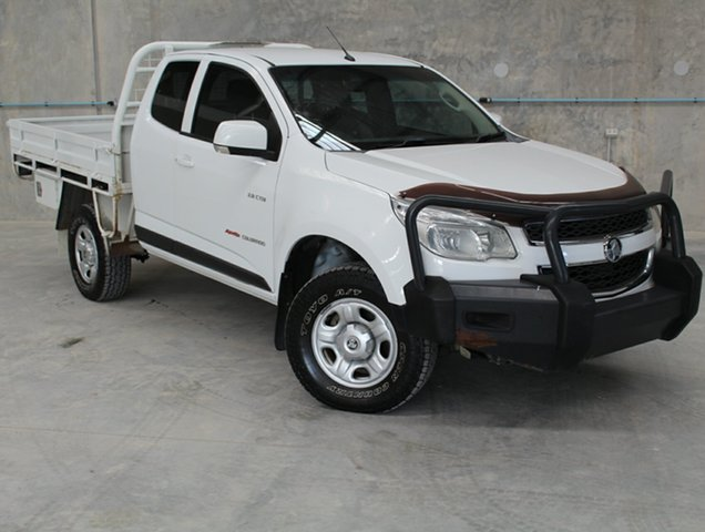 Used Holden Colorado RG MY13 LX Space Cab, 2013 Holden Colorado RG MY13 LX Space Cab White 5 Speed Manual Cab Chassis