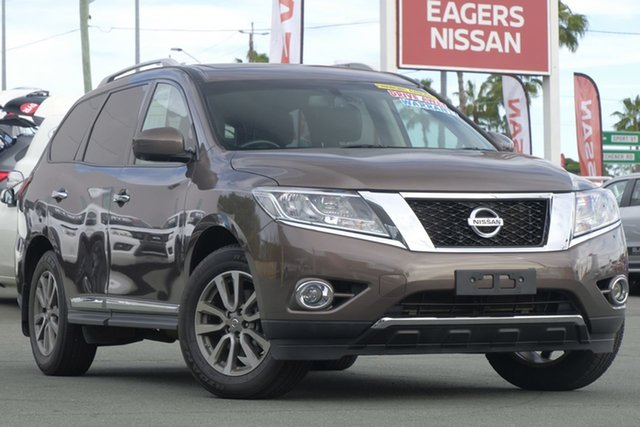 Used Nissan Pathfinder R52 MY15 ST-L X-tronic 2WD, 2015 Nissan Pathfinder R52 MY15 ST-L X-tronic 2WD Bronze 1 Speed Constant Variable Wagon