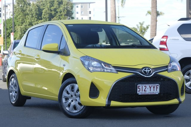 Used Toyota Yaris NCP130R Ascent, 2015 Toyota Yaris NCP130R Ascent Luminous Yellow/grey 4 Speed Automatic Hatchback