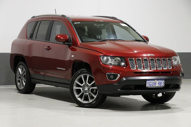 Used Jeep Compass MK MY14 Limited (4x4), 2014 Jeep Compass MK MY14 Limited (4x4) Red 6 Speed Automatic Wagon