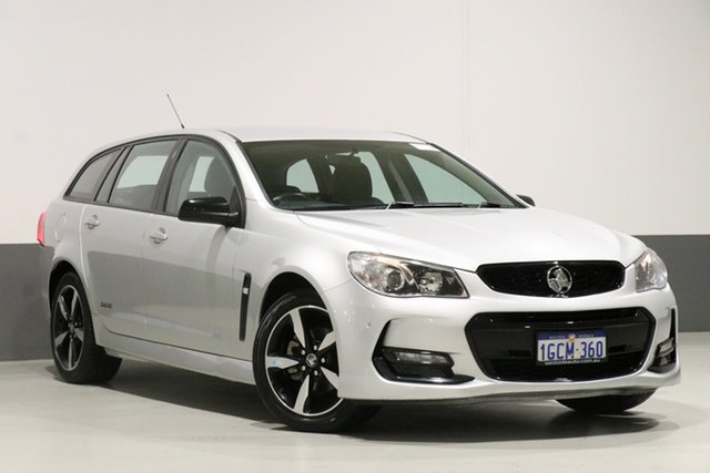 Used Holden Commodore Vfii MY16 SV6 Black Edition, 2016 Holden Commodore Vfii MY16 SV6 Black Edition Silver 6 Speed Automatic Sportswagon