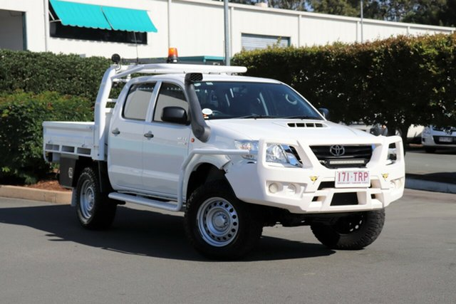 Used Toyota Hilux KUN26R MY12 SR Double Cab, 2013 Toyota Hilux KUN26R MY12 SR Double Cab Glacier White 4 Speed Automatic Utility