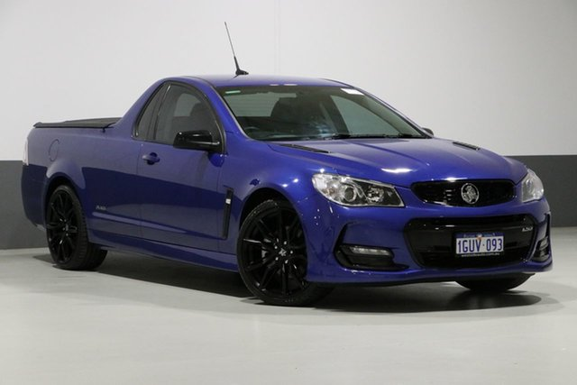 Used Holden Ute Vfii MY16 SS Black Edition, 2016 Holden Ute Vfii MY16 SS Black Edition Blue 6 Speed Manual Utility