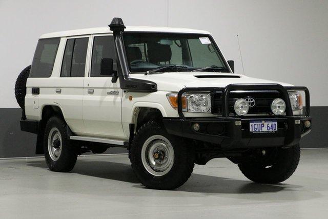 Used Toyota Landcruiser VDJ76R MY12 Update Workmate (4x4), 2014 Toyota Landcruiser VDJ76R MY12 Update Workmate (4x4) White 5 Speed Manual Wagon