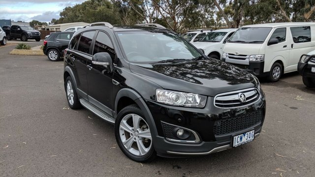 Used Holden Captiva CG MY15 7 AWD LTZ, 2014 Holden Captiva CG MY15 7 AWD LTZ Black/Grey 6 Speed Sports Automatic Wagon