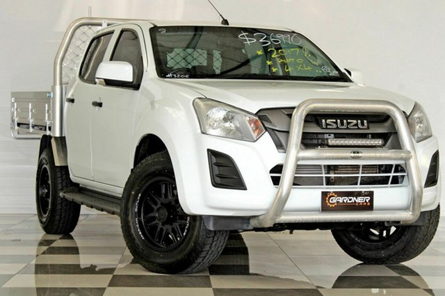 Used Isuzu D-MAX TF MY17 SX (4x4), 2017 Isuzu D-MAX TF MY17 SX (4x4) White 6 Speed Automatic Crew Cab Chassis