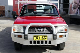 2002 Nissan Navara D22 MY2002 DX 4x2 Red 5 Speed Manual Cab Chassis