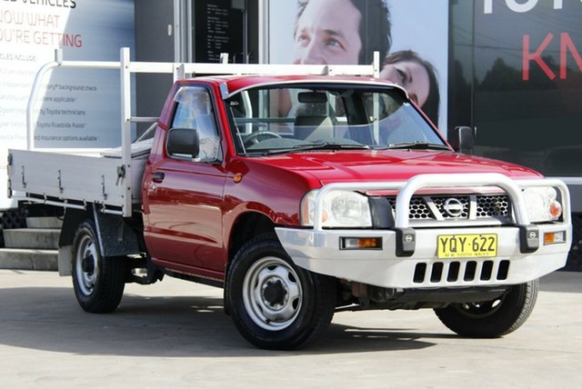 Used Nissan Navara D22 Series 2 DX (4x2), 2002 Nissan Navara D22 Series 2 DX (4x2) Red 5 Speed Manual Cab Chassis