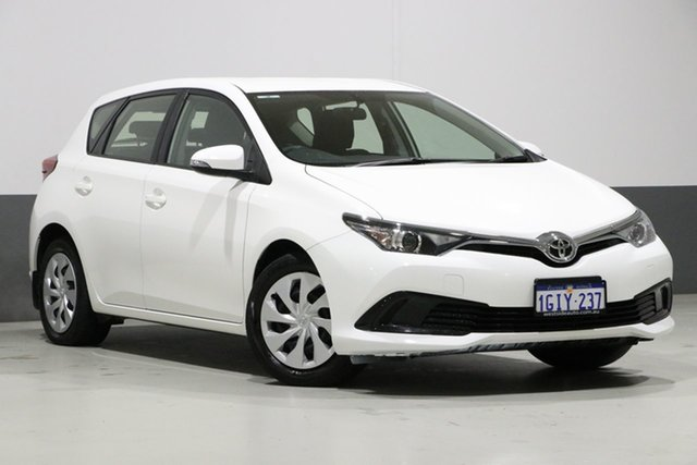 Used Toyota Corolla ZRE182R MY15 Ascent, 2017 Toyota Corolla ZRE182R MY15 Ascent White 7 Speed CVT Auto Sequential Hatchback