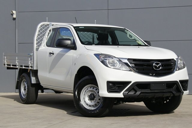 New Mazda BT-50 UR0YG1 XT Freestyle 4x2 Hi-Rider, 2019 Mazda BT-50 UR0YG1 XT Freestyle 4x2 Hi-Rider Cool White 6 Speed Sports Automatic Cab Chassis
